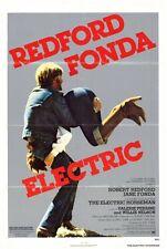 THE ELECTRIC HORSEMAN Movie POSTER 27x40 Robert Redford Jane Fonda John Saxon