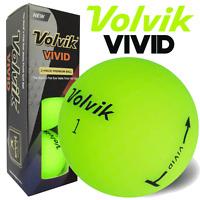 VOLVIK VIVID MATTE FINISH 3 PIECE GOLF BALLS / GREEN / 3 BALL PACK