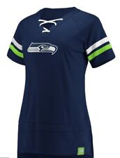 NFL Women's Seattle Seahawks Draft Me Jersey Lace Up Navy Blue Size S NWT