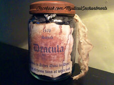 HALLOWEEN PROP Dracula Vampire Ashes Apothecary Jar- Large 26 oz