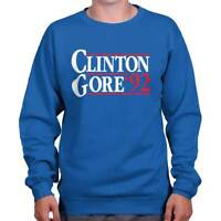 Bill Clinton Gore Political Presidential Gift Crewneck Sweat Shirts Sweatshirts