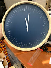 Momentum Home Clock- Wooden Maple Frame with Blue Interior
