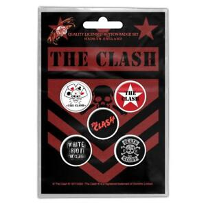 OFFICIAL LICENSED - THE CLASH - LONDON CALLING 5 BADGE PACK PUNK