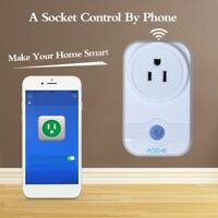 Smart Home WiFi Remote Timer Switch Wall Outlet Plug Socket w Alexa Google Home