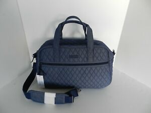 Vera Bradley COMPACT Traveler Bag in Denim Moonlight Navy  NWT