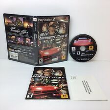 Midnight Club II Sony PlayStation 2 PS2 Black Label Tested & Working w/ Manual