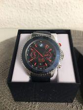 Ice Watch® BMW Motorsport Steel/Blue/Red-Big Big Chrono Herren Leder Armbanduhr