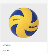 Mikasa MVA200 Official FIVB Indoor Volleyball - Blue/Yellow.  (30 Available)