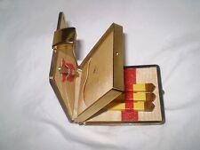 Beautiful Vintage SET manicure amber color In original METAL BOX BRASS MADE USSR