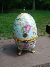 Flower Egg trinket box made by Lily Creek 24k Gold
