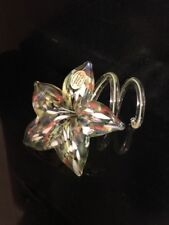 Czech Republic Hand Made Lilly Glass Flower FISER Collection. Pristine Condition