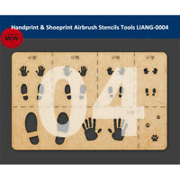 LIANG-0004 Handprint Shoeprint Airbrush Stencils Tool for 1/16 1/35 1/48 Model