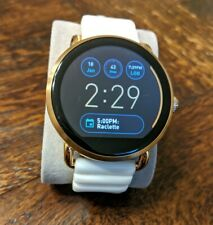 Fossil Q Wander 45mm Smartwatch Rose Gold White Silicone FTW2114