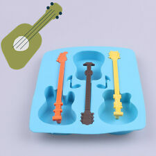 New Creative Silicone Ice Guitar Shaped Mold Cake Sugar Decor Mould Baking Tool
