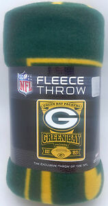 """Green Bay Packers Blanket 50"""" by 60""""  Marque Style Fleece Throw Blanket"""