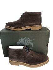 Men's Timberland Folk Gentleman Chukka Boots Dark Brown Suede Size 11 UK