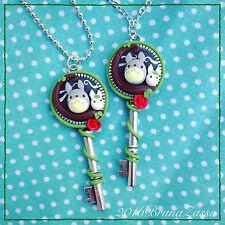 Collana Totoro Cammeo Cameo Chiave Necklace Key Fimo Polymer Clay Miyazaki