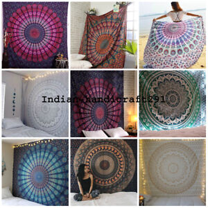 Mandala Tapestry Bulk Wall Hanging Throw Twin Bedspread Wholesale Lot 50PCS