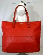 Kate Spade PORTOLA VALLEY SHANNA SPICE RED LEATHER TOTE HANDBAG Ostrich $525 XL