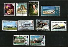 Falkland Islands collection of 10 used stamps 2008 to 2012 all fine