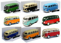 VW VOLKSWAGEN BUS 1:43 Car NEW Model Cars Die Cast Metal Van Camper