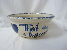 """P.R. Storie Pottery Co. Marshall Texas Large Hot Popcorn Bowl 11.5"""""""