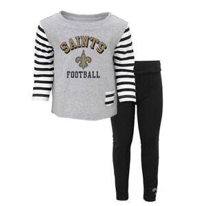 "New Orleans Saints NFL ""Little Big Girl"" Long Sleeve T-Shirt & Pants Set Infant"