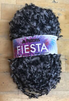 Knitting Yarn-50g Patons Fiesta Black & Grey-2564-Embellishments-Scrapbooking-K1
