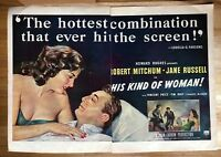 Original Print Magazine Ad 1951 Movie Ad 2 Page His Kind of Woman Jane Russell