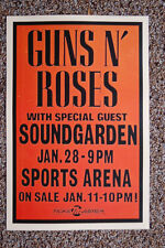 Guns N Roses Concert Tour Poster 1992 San Diego  Sports Arena with  Soundgarden