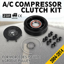 A/C Compressor Clutch Kit fit Mercedes Models 7SEU17C with 6 Groove Pulley 04-11