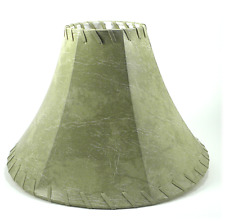FAUX LEATHER BELL Rustic Lampshade 14""