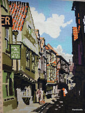 Completed Needlepoint The Shambles Pub Inn Penelope England 13x18in Wool EP523