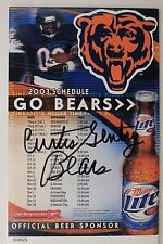 CURTIS GENTRY Chicago Bears Maryland Eastern Signed Autograph 2003 Schedule 16G