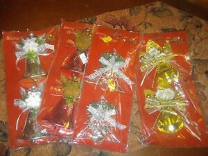 bulk lot of 50 packets of xmas decorations