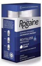NEW Men's Rogaine Foam Hair Regrowth Treatment Three Month Supply Exp:07/2019