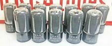 Lot of 12 Ex to NOS Test (Gm) RCA VT-107A 6V6GT Beam Power Tubes (436)