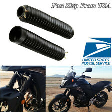 2 Pcs Rubber Motorcycle Front Gaiter Fork Boots Shock Cover Dustproof USA Stock