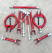 FOR 89-94 Nissan 240sx s13 Red Rear Front Suspension kit Traction Tie Toe ArmS