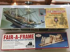 Mamoli Uss Constitution 1:93 Scale Wood Model Kit with Fair-A-Frame