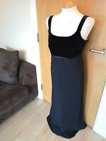 Ladies WALLIS Dress Size 16 Black Velvet Bust Smart Party Evening