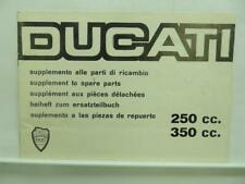 1967 Ducati 250cc 350cc Supplement To Spare Parts Motorcycle Brochure B3327