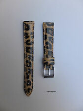 New Genuine Leather Leopard Print Watch Band,Strap,Interchangeable Women EZ-PIN