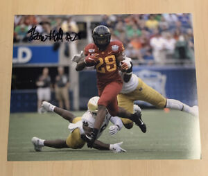BREECE HALL SIGNED 8x10 PHOTO IOWA STATE CYCLONES RUNNING BACK AUTOGRAPHED COA