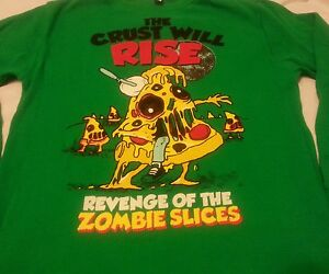 Old Navy Boys Thermal Shirt L 10/12 Green Revenge of the Zombie Slice Kids