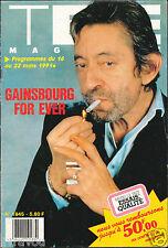▬►Télé Magazine du 16 au 22/03/1991 Serge Gainsbourg_Hervé Vilard_Alain Chamfort