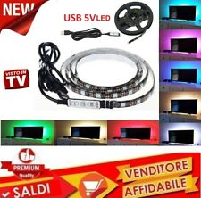 Striscia Led USB 5V RGB SMD 5050 Posteriore BOBINA 2 METRI per TV PC Monitor NEW