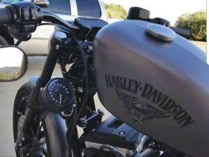 ♤ Speedo Relocation Kit w/ Satin Blk Handlebar Clamp Harley SPORTSTER ♤ JBSporty