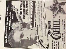 m5-2h ephemera 1970/s film advert macintosh man newman cahill john wayne