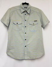 Mens Dolce & Gabbana Blue & Yellow Check Shirt Size L Men Short Sleeve Shirt-B18
